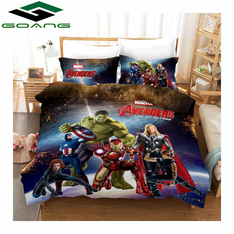 GOANG 3d Bedding Sets Bed Sheet Duvet Cover And Pillowcase Home Textiles Luxury Bedding 3d Digital Printing Incredible Hulk
