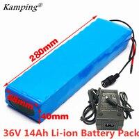 36V Batterie 10S3P 14Ah18650 lithium ionen batterie pack Für 42v 14000mAh ebike elektrische auto fahrrad motor roller mit 20A BMS 500W-in Akku-Packs aus Verbraucherelektronik bei