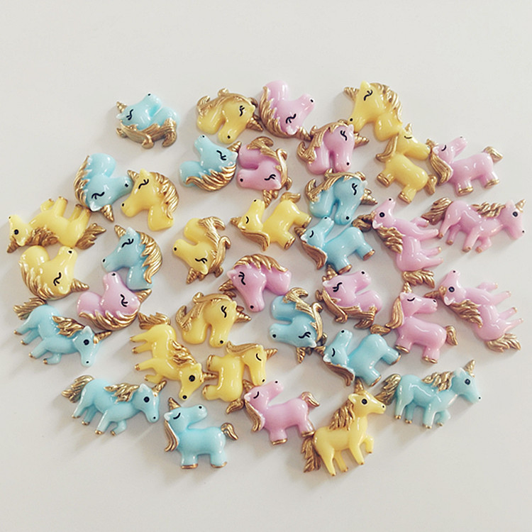 1 8pcs Unicorn Bao Li Horse Charms for Slime Filler DIY Ornament Phone Decoration Resin Charms Lizun Clay Slime Supplies Toys E in Modeling Clay from Toys Hobbies