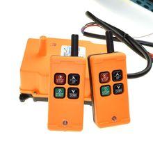 HS 4 2 tansmitters 4 canais 1 controle de velocidade talha guindaste rádio sistema de controle remoto