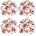 10 шт 12 дюймов розовое золото конфетти латексные шары-цифры воздушные шары ко дню рождения с 16 18 21 30 лет День рождения украшения для взрослых