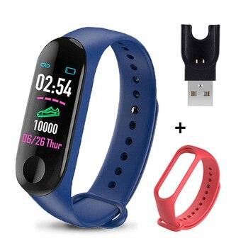 M3 Plus Smart Bracelet Heart Rate Blood Pressure Health Waterproof Smart Watch M3 Pro Bluetooth Watch Wristband Fitness Tracker 10