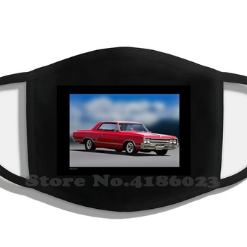 1965 Oldsmobile Cutlass 442 Funny Cool Cotton Mask Automobile Auto Automotive Car Transportation Vehicle Fast Competition image
