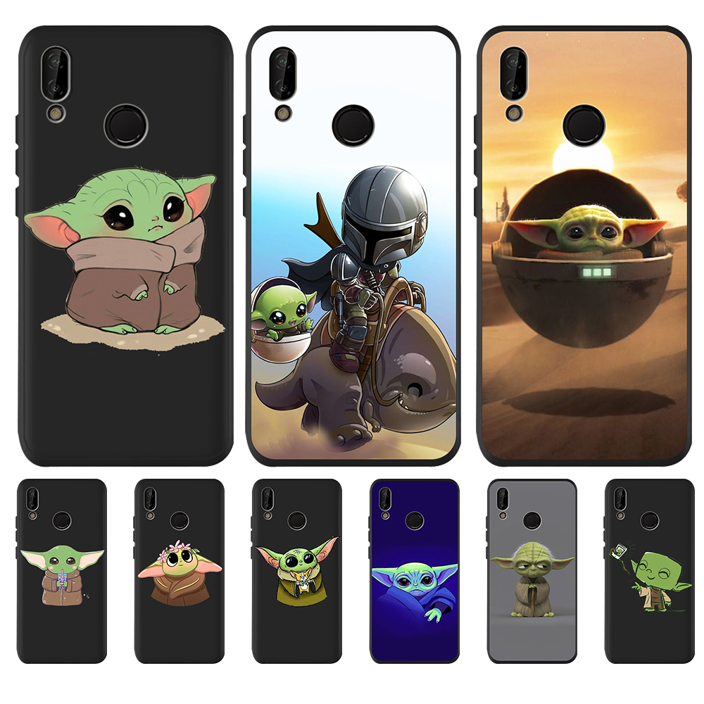 Cartoon Cute Baby Yoda Meme Phone <font><b>Case</b></font> For Huawei <font><b>Honor</b></font> 8 Lite 8X 8C 9X 9 10 Lite 20 Pro V20 10i <font><b>20i</b></font> 8S 8A <font><b>case</b></font> Silicone coque image