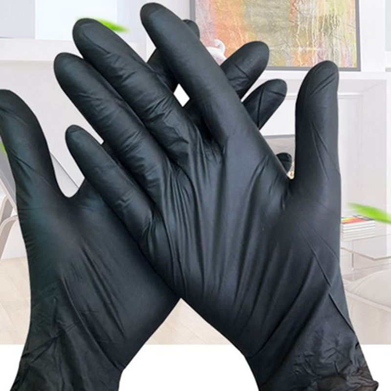 400Pcs Black Disposable Latex Gloves Garden Gloves for Home Cleaning Rubber Catering Food Gloves Tattoo Gloves
