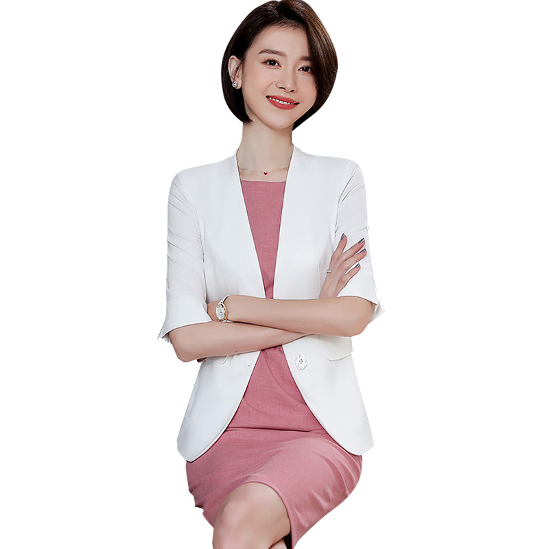 Pink Formal Dress Blazer Women Dresses with Jacket Women's  Dress Suit Set Office Wear Work for Ladies Evening Elegant Costumes