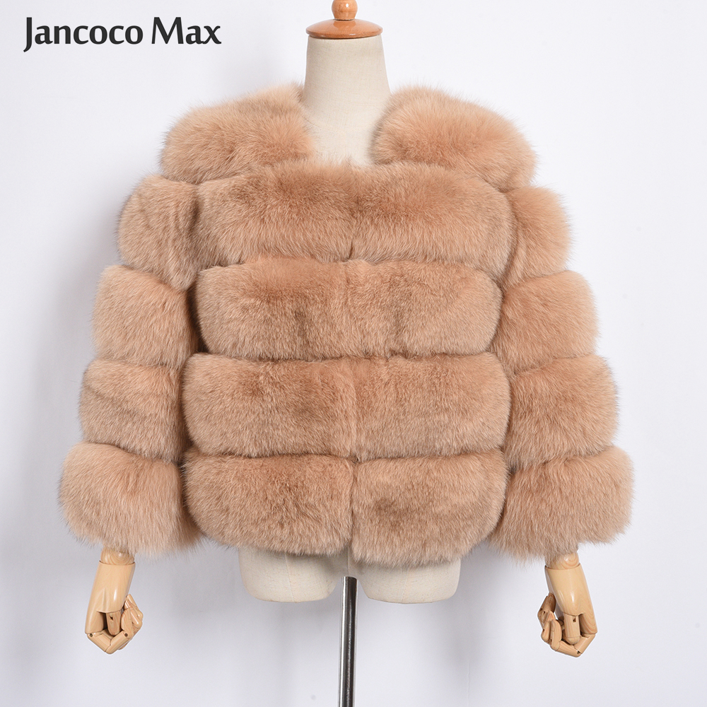 Image 3 - Women's Real Fox Fur Coat Winter Fashion Fur Jackets Thick Warm Fluffy High Quality  Outerwear Female Genuine Fur S1796-in Real Fur from Women's Clothing