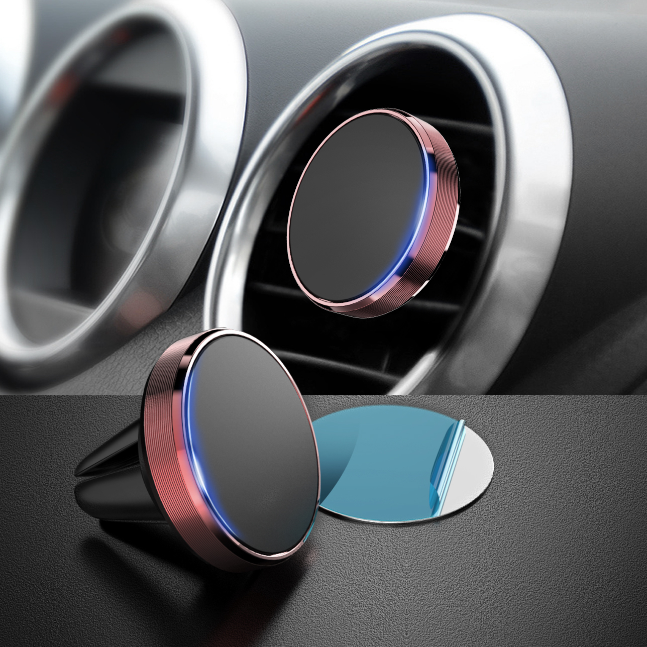 Magnetic Phone Holder In Car Air Vent Mount Universal Stand Magnet Support magnetic holder magnetic holder for phone in car in Phone Holders Stands from Cellphones Telecommunications
