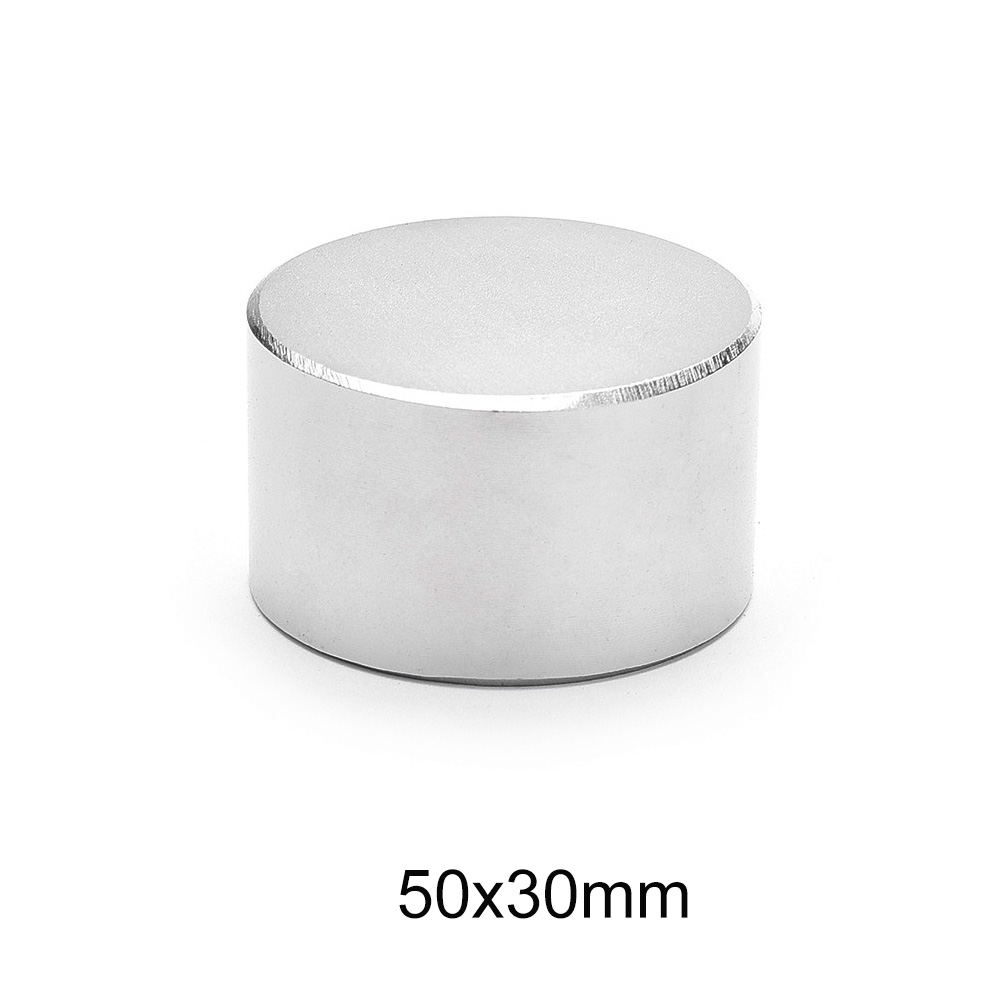 1PCS <font><b>50x30</b></font> mm Big Thick Round Strong magnets 50mm X 30mm Permanent Neodymium Magnet Disc 50x30mm N35 Rare Earth Magnet 50*30 mm image
