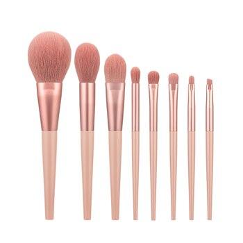 Anmor 11/8Pcs/lot  Makeup Brushes Set Synthetic Hair Professional Make Up Brush For Eyeshadow Foundation Powder Eyeliner Eyelash - 8708-P