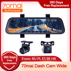 70mai New  Arrive 9.35 Inch  Car Dvr Streaming Rear View Mirror Dash Camera HD 1080P Video Recorder Dual Lens With Rear View Cam