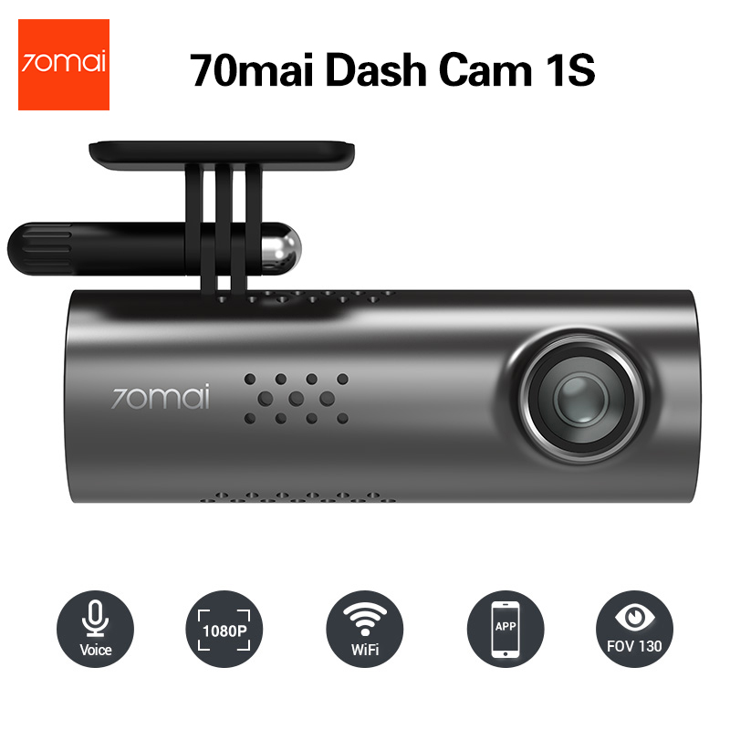 70mai Dash Cam 1S Car DVR 70 Mai Camera Support Smart Voice Control WIFI Wireless Connect 1080P HD 130 Degree FOV