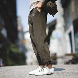 Maden männer retro navy strahl fuß jogginghose herbst stricken hosen reine farbe hosen männlichen