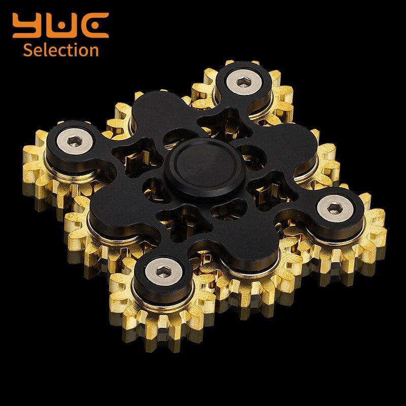 Focus-Toys Fidget-Spinner Stress-Relief Metal EDC YUC Nine Teeth-Linkage Delicateness-Gear img4