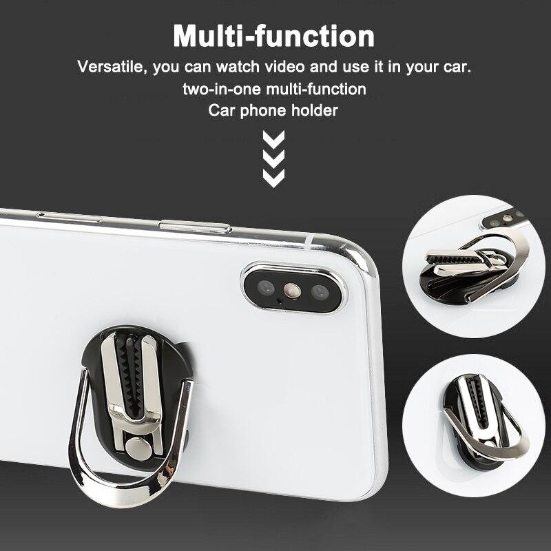 Mobile Phone Holder Finger Ring Car Phone Holder Car Air Vent Mount Stand 360 Swivel Magnetic Finger  Holder Bracket TSLM1