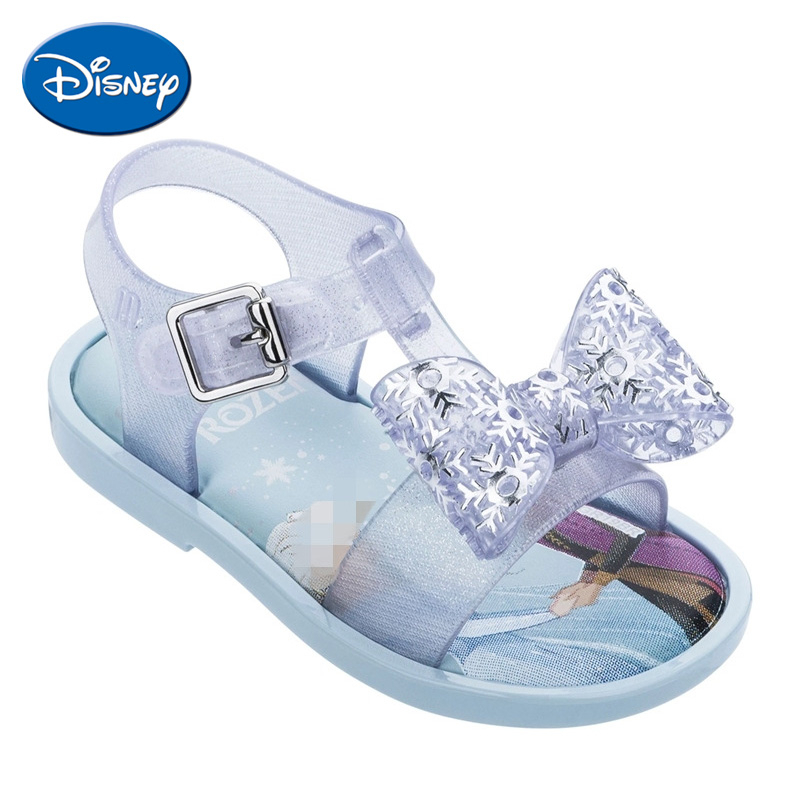 Disney Elsa Kids Shoes Waterproof Girl Sandals Children Soft Jelly Shoes Baby Sandy Beach Sandals