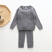 Baby Boys Girls Clothing Sets Fall Winter Sweater + Pants