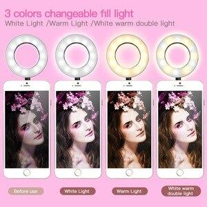 Image 5 - Foto Studio Selfie Led Ring Licht Met Flexibele Mobiele Telefoon Houder Voor Live Stream Make Up Telefoon Lamp Voor Iphone Android