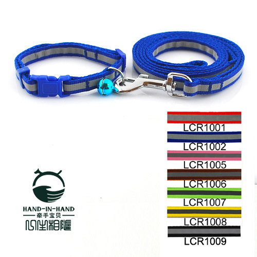 Hand-in-hand Pet Reflective Tape Hand Holding Rope 1.0 6-Color Selectable Dog Cat Neck Ring Neck Band Traction Belt