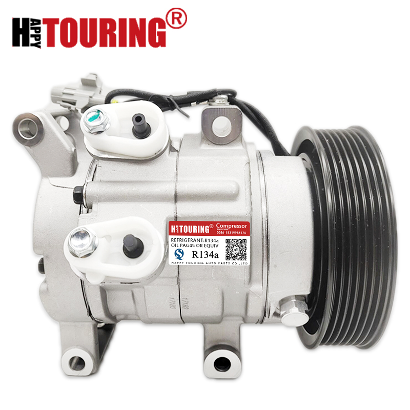 New 10S11C Air Conditioning Compressor For TOYOTA HILUX III Pick up 2.5L 3.0L 447160 1970 447160 2020 447180 8280 447260 8020|air conditioning compressor|conditioning compressor|air compressor toyota - title=