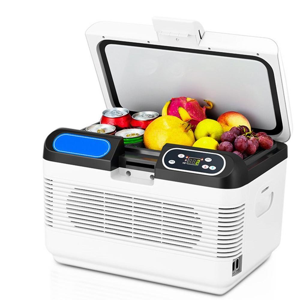 12L blanc réfrigération voiture réfrigérateur froid et chaud voiture maison Double refroidissement 220V AC/12 V DC - 5