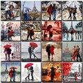 Картина по номерам «сделай сам», уличная масляная живопись, абстрактная картина для влюбленных, на холсте, Подарочная декоративная акрилов...