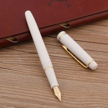 WING SUNG BLACK ffoun(pen New White Plastic Golden spin EF F pennino Business Office materiale scolastico scrittura