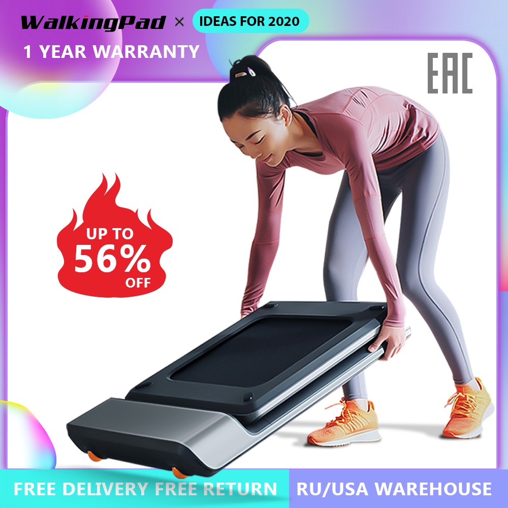 Home Use Walking Pad Smart Electric Foldable Treadmill Jog Space Walk Machine Aerobic Sport Fitness Equipment