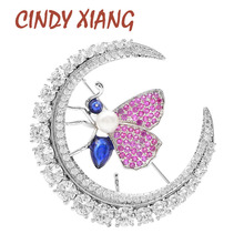 CINDY XIANG 9 Styes For Choose Cubic Zirconia Bee Brooches For Women Luxury Butterfly Pin Shining Sparking Flower Brooch Gift