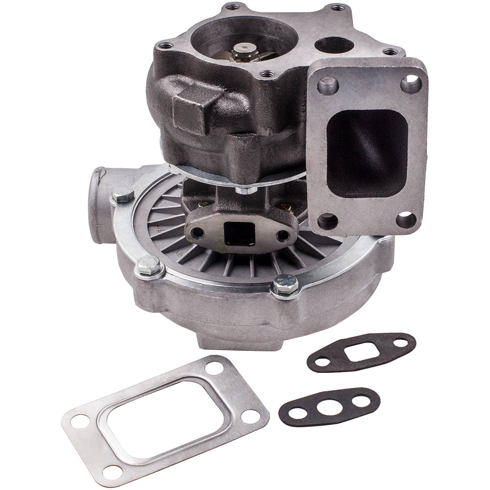 T04E T3 Universal TURBOCHARGER for 1.6L 1.8L 2.0L T3 + 5 BOLTS EXHAUST FLANGE Turbo Chargers & Parts     - title=