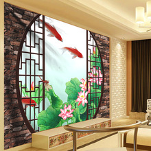 Art Tapestry Wall Hanging Flowers Decoration Lotus Leaf Goldfish Classical Screen Hippie Bohemian Decor Carpet