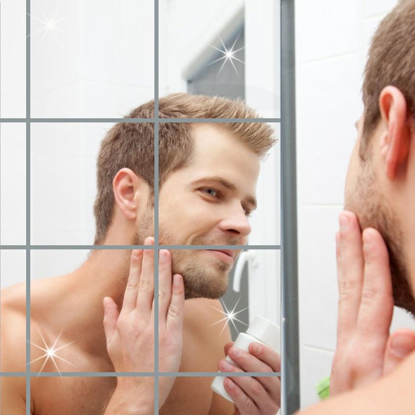 9pcs/Set Square Mirror Wall Makeup Mirror
