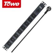 """TOWE PDUs 1"""" розетка распределительные блоки питания EN10/I812P 10A 8 способов IEC320 C13 с защитой от перегрузки"""