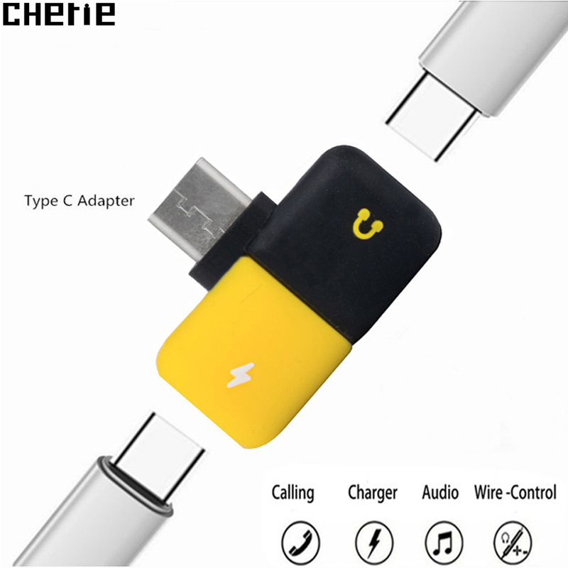 Cherie Jack Dongle Headphones Adapter For Oneplus Huawei Samsung USB C Audio Splitter Dual Type C Aux Charging Adaptador Tipo C