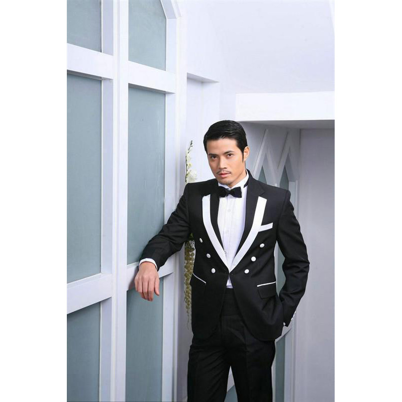 White Black Men Formal Party Suits 2020 Tailor Made Wedding Tuxedos Formal Banquet Dress For Men Outside Spring (Jacket+Pant)