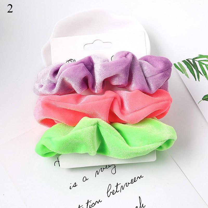 1 комплект резинки для волос кольцо для волос карамельного цвета Веревка для волос осень-зима женский хвостик аксессуары для волос 4-6 шт. ободки для девочек Подарки - Color: A2