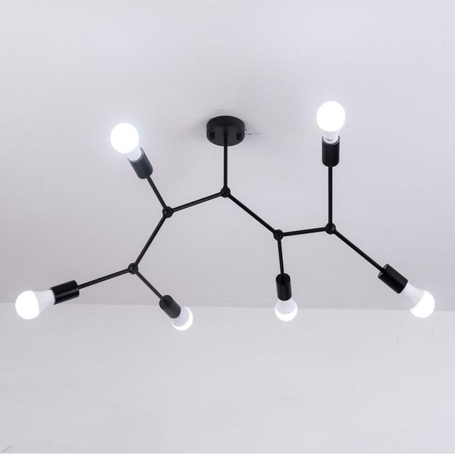 מודרני LED תקרת נברשת תאורת סלון חדר שינה מולקולרי נברשות מרובה ראשי Creative בית גופי תאורה