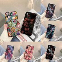 Vintage Silk Floral Phone Case For Samsung S note S10E 6 7 8 9 10 20 plus edge lite Cover Fundas Coque