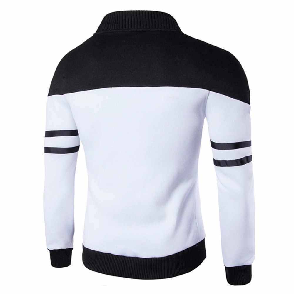 Männer Jacken Fashion Herbst Winter Zipper Baumwolle Sportswear Patchwork Lose Beiläufige Jacke Langarm Mantel Männer Tops Mantel
