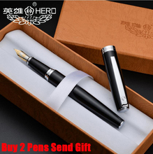Free Shipping Hot Selling Hero 382 Brand Metal Ink Fountain Pen Luxury Business Siguanture Writing Pen Buy 2 Pens Send Gift цена