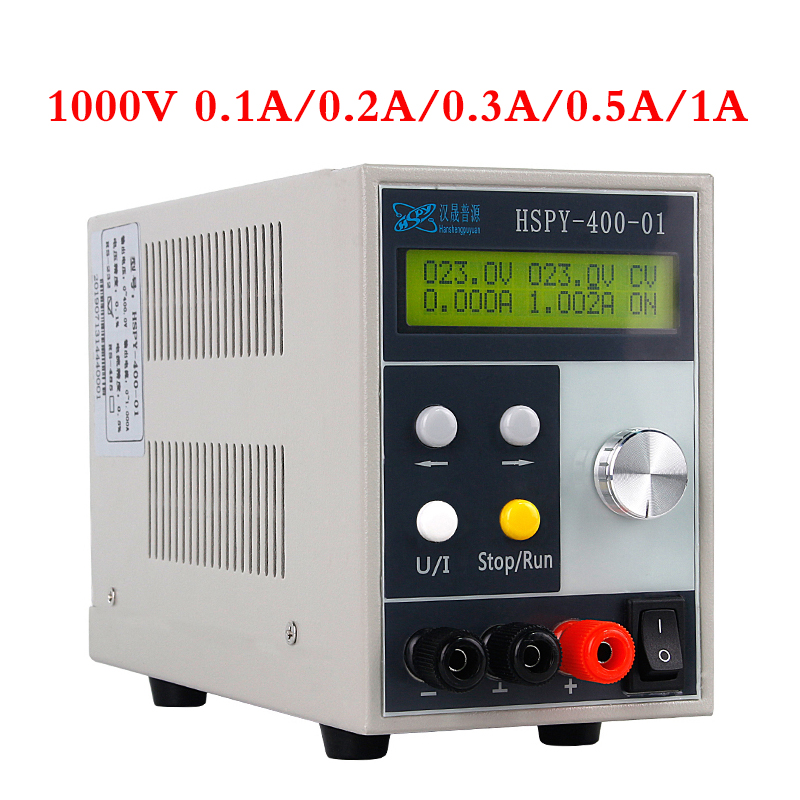 HSPY 4-digits 1000V 0.1A 1A Digital DC Lab Switching Adjustable Power Supply Laboratory 0.01V 0.001A Programmable Bench Source