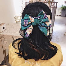 ncmama Korean Women Hair Bows French Clips Ponytail Holder Big Floral Bowknot Hairgrips Fashion Bohemia Accessories