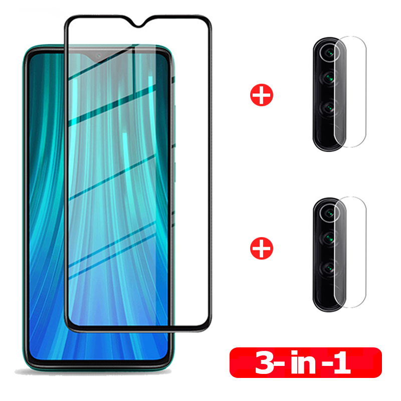 2pac Camera Lens Protective Tempered Glass Redmi Note 8 Pro 8T 8A  Glass 3D Premium Scratch Resistant Front Safety Glass Xiaomi Redmi-Note-8-pro Note8 Screen Protector Glass