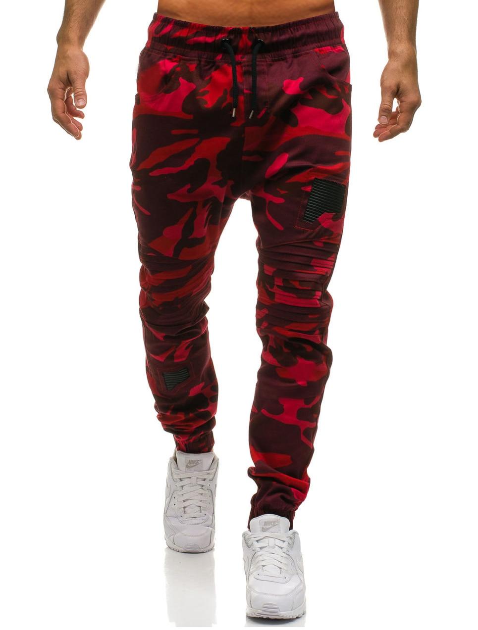 Men Sweatpants Casual Pants Slim fit Drawstring Sweatpants Slacks Elastic Waist Patchwork Pleated Ultrathin Male Trousers Jogger 17