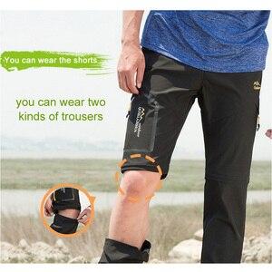 Image 4 - LoClimb Outdoor Hiking Pants Men/Women Stretch Quick Dry Waterproof Trousers Man Mountain Climbing/Fishing/Trekking Pants AM051