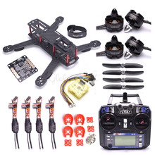Qav250 250mm 250 quadro cc3d evo controlador 2204 2300kv do motor 12a simonk esc flysky i6 FS i6 para rc fpv racing drone