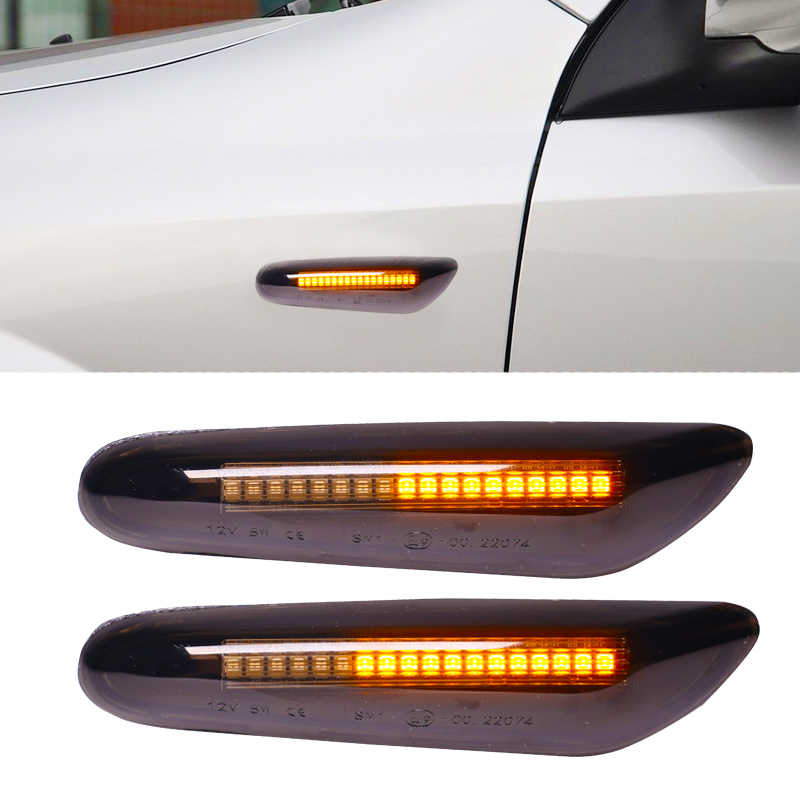 LED Side Marker Light Turn Signal Indicator for E90 E91 E92 E93 E60 E87 E8 Smoke