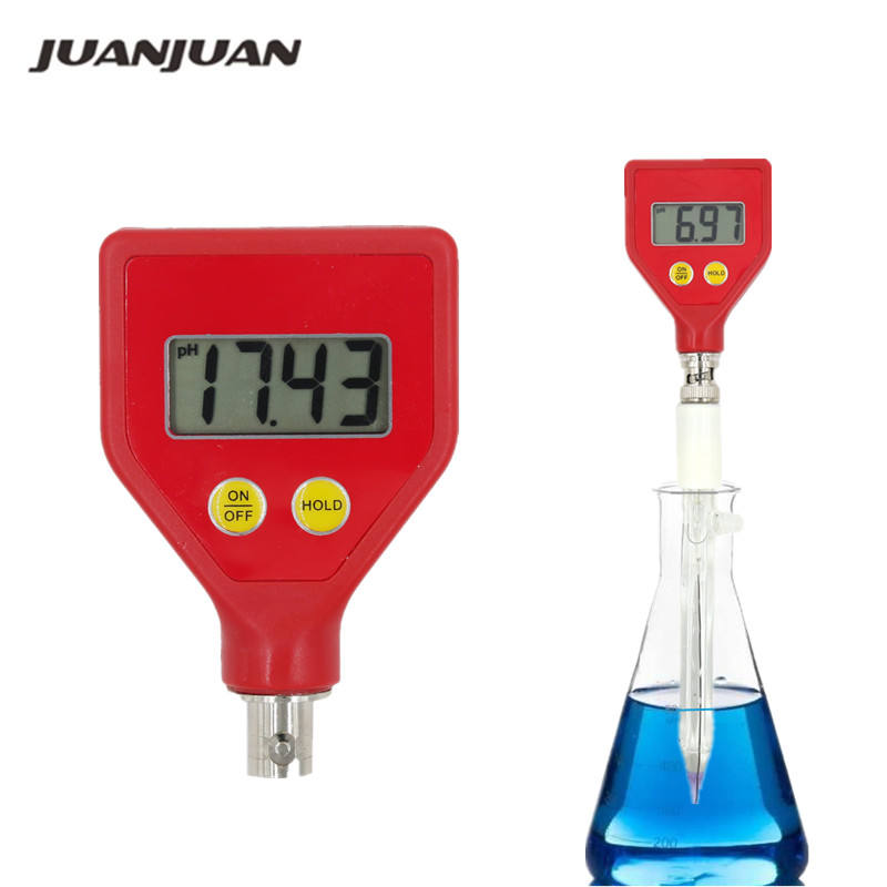 PH 98108 pH Meter pH Tester Sharp glass Electrode for Water Milk Cheese Soil Food 40%Off-in PH Meters from Tools