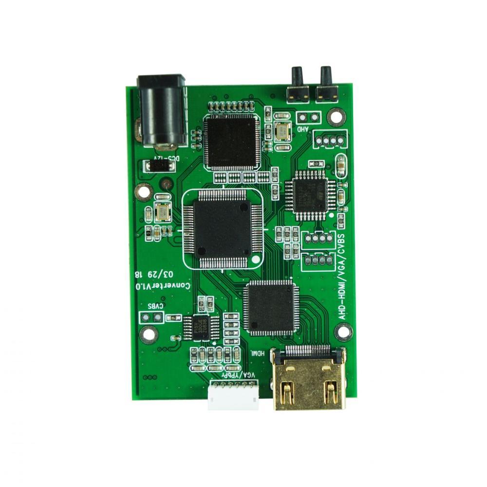 A2H AHD To HDMI Signal Convertor AHD TVI CVI CVBS Signal To HDMI VGA CVBS Signal Convertor Board Support OEM