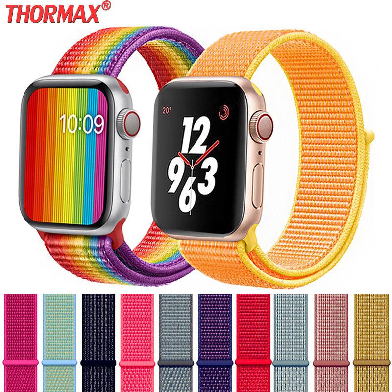 Nylon Sport WatchBand For Apple Watch 5 Series 5/4/3 Soft Lightweight Breathable Strap Wristband 38mm 42mm 40mm 44mm Watchbands